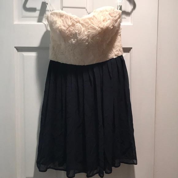 Asos Dresses Navy And Cream Semi Formal Dress Poshmark